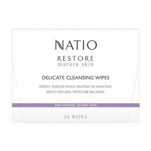 Buy Natio Restore Mature Skin Delicate Cleansing Wipes - Nykaa