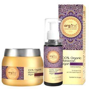 Buy Arganic by Aryanveda 100% Moroccan Argan Hair Shampoo & Hair Mask Comb Pack - Nykaa