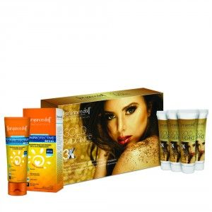Buy Aryanveda Gold Radiance 3X Home Spa Kit With Spf-50 Combo Pack - Nykaa