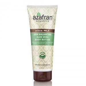 Buy Azafran Organics Aqua Milk Skin Balancing Aloe Vera Body Butter - Nykaa