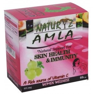 Buy Naturyz Amla 425mg 60 Capsules - Nykaa
