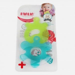 Buy FARLIN Educational Smiley Teethers (Blue + Green) - Nykaa