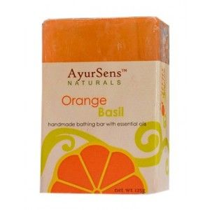Buy AyurSens Orange Basil Bathing Bar - Nykaa