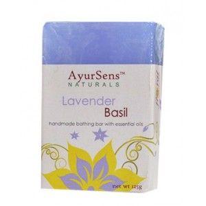 Buy AyurSens Lavender Basil Bathing Bar - Nykaa