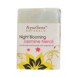 Buy AyurSens Night Blooming Jasmine Neroli Bathing Bar - Nykaa