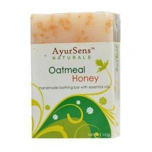 Buy AyurSens Oatmeal Honey Bathing Bar - Nykaa