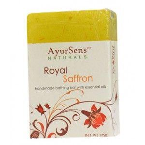 Buy AyurSens Royal Saffron Bathing Bar - Nykaa