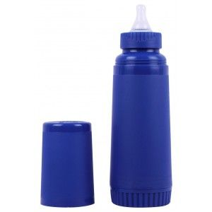 Buy FARLIN Un-Breakable Insulated Feeding Bottle 250 CC (Blue) - Nykaa