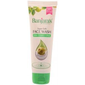 Buy Banjara's Milk Cream + Olive Face Wash - Nykaa