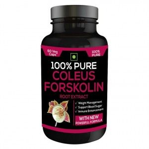 Buy Nutravigour 100% Pure Coleus Forskolin 20% Extract 500mg 1x60 Veg Capsules Weight Management Supplement - Pack Of 1 - Nykaa