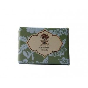Buy Roots & Above Ayurvedic Citrus Mint Glycerin Bathing Bar - Nykaa