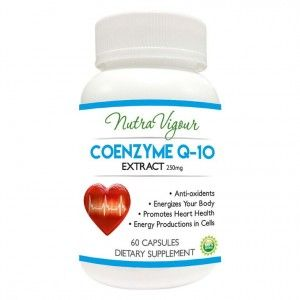 Buy Nutravigour Co Enzyme Q10 Nutravigour Co-Q10 Enzyme Capsules 60 Veg 250 Mg Maximum Size - Nykaa