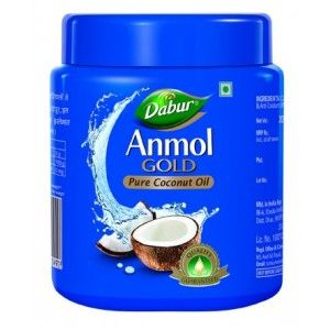 Buy Dabur Anmol Gold Pure Coconut Oil - Wide Mouth - Nykaa