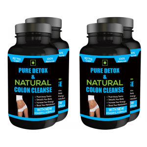 Buy Nutravigour Pure Detox & Natural Colon Cleanse 60 Veg Capsules - Pack Of 4 - Nykaa