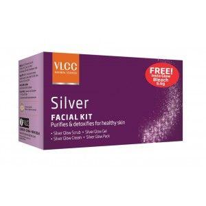 Buy VLCC Silver Single Facial Kit Free Insta Glow Gold Bleach Bleach - Nykaa