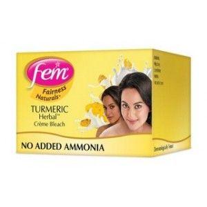 Buy Fem Turmeric Herbal Fairness Bleach Cream - Nykaa