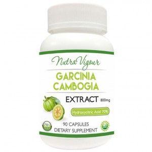 Buy Nutravigour Organic Garcinia Cambogia Extract 70% HCA (Hydroxycitric Acid) Weight Management - 90 Capsules 800mg - Nykaa