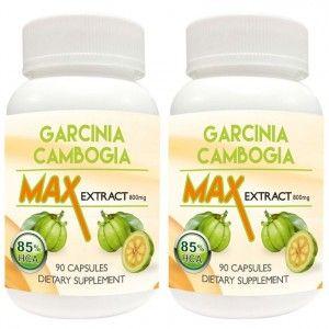 Buy Nutravigour Garcinia Cambogia Max Extract 85% Hca (Hydroxycitric Acid) 800 Mg 2x90 Veg Capsules - Combo Pack Of Two - Nykaa