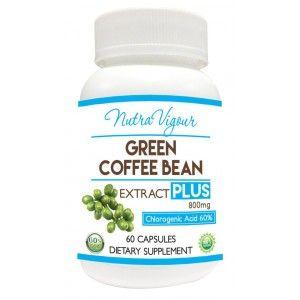 Buy Nutravigour Green Coffee Extract Chlorogenic Acid (GCA) Plus 60% Chlorogenic Acid 60 Veg Capsules 800mg - Nykaa