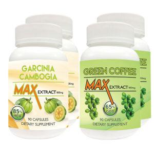 Buy Nutravigour Garcinia Cambogia Max 85% HCA Extract 800mg Veggie 90 Capsules With Green Coffee Max Extract Chlorogenic Acid (GCA) 800mg Vegetarian 90 Capsules - Pack Of 4 - Nykaa