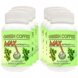 Buy Nutravigour Green Coffee Max Extract 65% Chlorogenic Acid (GCA) 800mg Veg 6 X 90 Capsules For Weight Loss - Ultimate Pack Of 6 - Nykaa