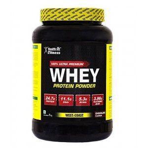 Buy HealthVit 100% Ultra Premium Whey Protein (Chocolate Flavour) - Nykaa