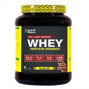 Buy HealthVit 100% Ultra Premium Whey Protein (Cafe Mocha Flavour) - Nykaa