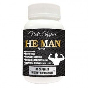 Buy Nutravigour He Man Power Testosterone Booster And Bodybuilding Supplement - 60 Veg Capsules - Nykaa