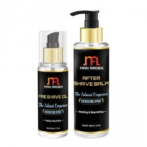 Buy Man Arden Pre Shave Oil + After Shave Balm (The Island Emperor Kit) - Nykaa