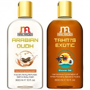 Buy Man Arden Arabian Oudh + Tahiti's Exotic Luxury Shower Gel - Nykaa