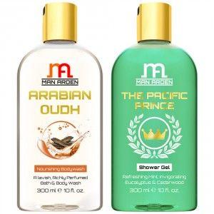 Buy Man Arden Arabian Oudh + The Pacific Prince Luxury Shower Gel - Nykaa