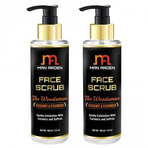 Buy Man Arden Face Scrub - The Woodsman (Pack of 2) - Nykaa