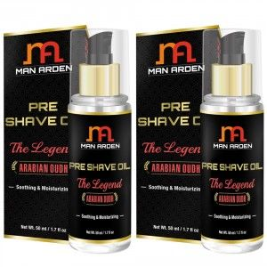 Buy Man Arden Pre Shave Oil - The Legend (Pack of 2) - Nykaa