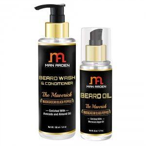 Buy Man Arden Beard Wash Shampoo + Beard Oil (The Maverick Kit) - Nykaa