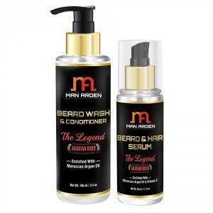 Buy Man Arden Beard Wash Shampoo + Beard Serum (The Legend Kit) - Nykaa