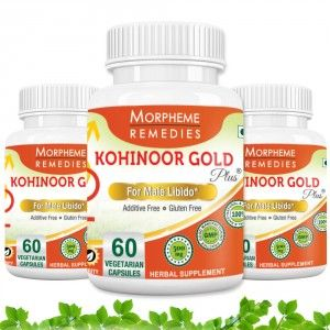 Buy Morpheme Kohinoor Gold Plus 500mg Extracts - 60 Veg Caps. x 3 - Nykaa