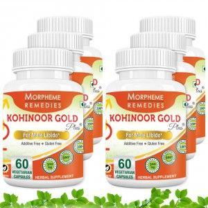 Buy Morpheme Kohinoor Gold Plus 500mg Extracts - 60 Veg Caps. x 6 - Nykaa