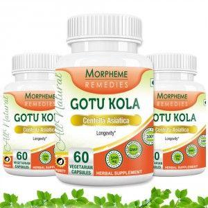 Buy Morpheme Gotu Kola 500mg Extract - 60 Veg Caps. x 3 - Nykaa