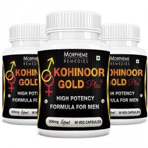 Buy Morpheme Kohinoor Gold Plus 500mg Extract - 90 Veg Caps. x 3 - Nykaa