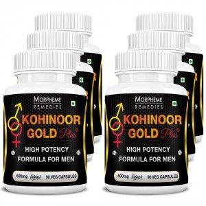 Buy Morpheme Kohinoor Gold Plus 500mg Extract - 90 Veg Caps. x 6 - Nykaa