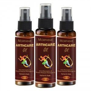 Buy Morpheme Arthcare Oil With Spray - 100ml x 3 - Nykaa