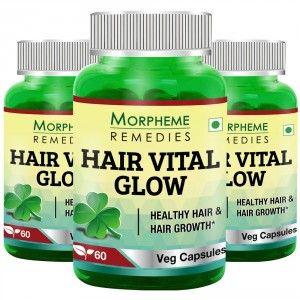 Buy Morpheme Hair Vital Glow - 60 Veg Caps (3 Bottles) - Nykaa