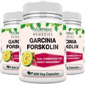 Buy Morpheme Remedies Garcinia Forskolin 500mg Extract - 3 Bottles - Nykaa