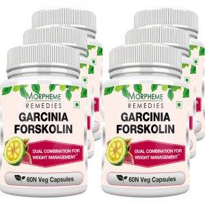 Buy Morpheme Remedies Garcinia Forskolin 500mg Extract - 6 Bottles - Nykaa