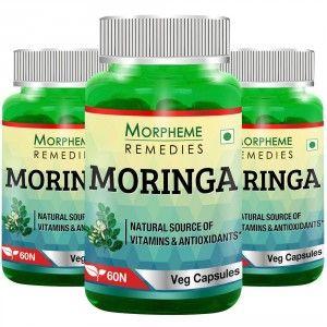 Buy Morpheme Moringa 500mg Extract - 60 Veg Caps (3 Bottles) - Nykaa