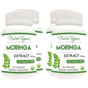 Buy Nutravigour Organic Moringa Extract Dietary Supplement - Veg 60 Capsules - Pack Of 4 - Nykaa