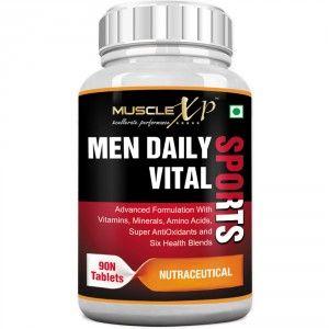 Buy MuscleXP Men Daily Vital Sports MultiVitamin (6 Health Blends & Amino Acids) - Nykaa