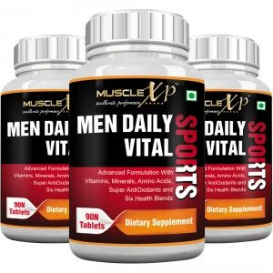 Buy MuscleXP Men Daily Vital Sports MultiVitamin (6 Health Blends & Amino Acids) (Pack of 3) - Nykaa