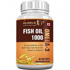 Buy MuscleXP Fish Oil 1000 Omega 3 - 330mg (90 Softgels) - Nykaa