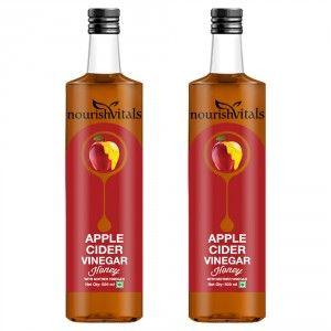 Buy Nourish Vitals Apple Cider Vinegar With Honey x 2 Bottles - With Mother Vinegar - Nykaa